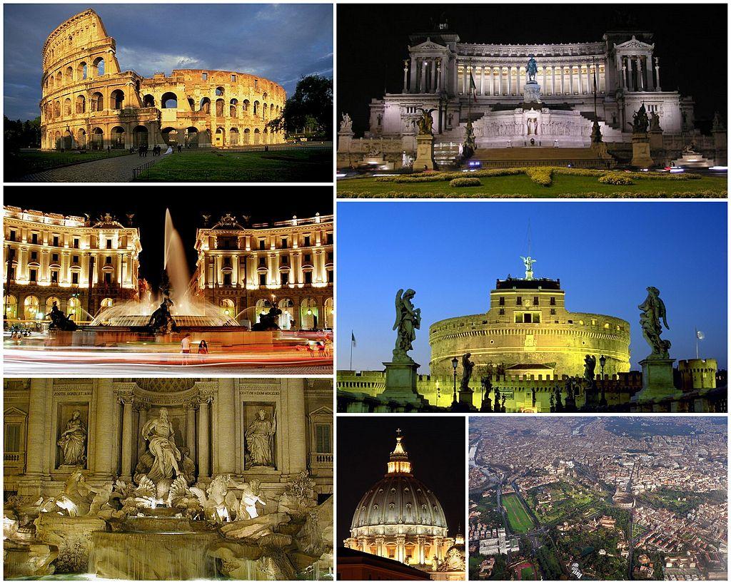 Vues de Rome (crédit : Commons Wikimedia)