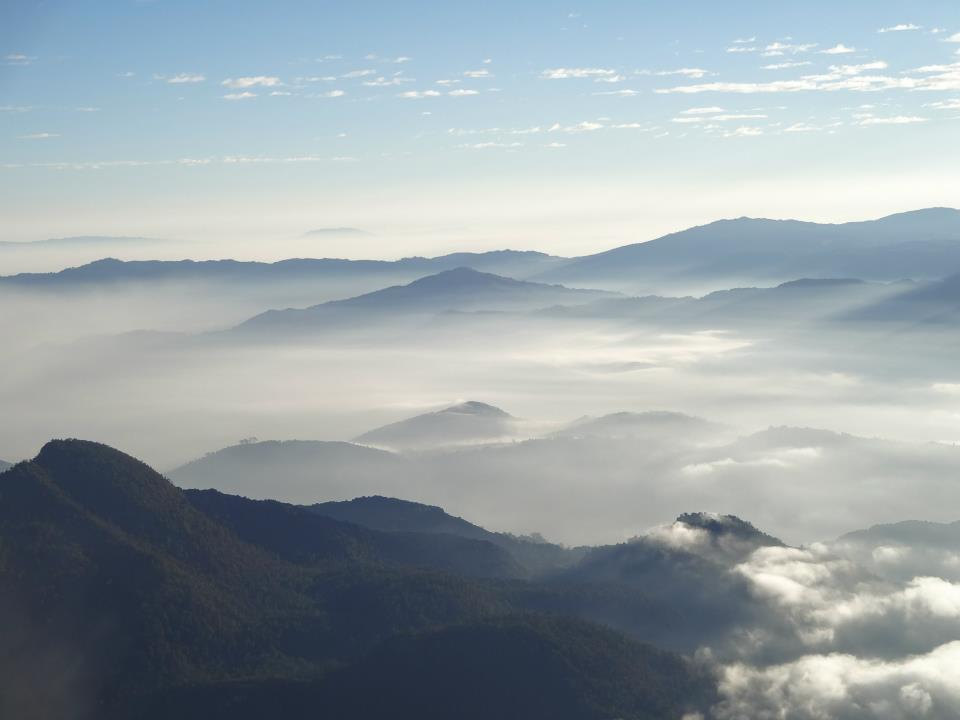 Vue depuis le Santa María des paysages environnants