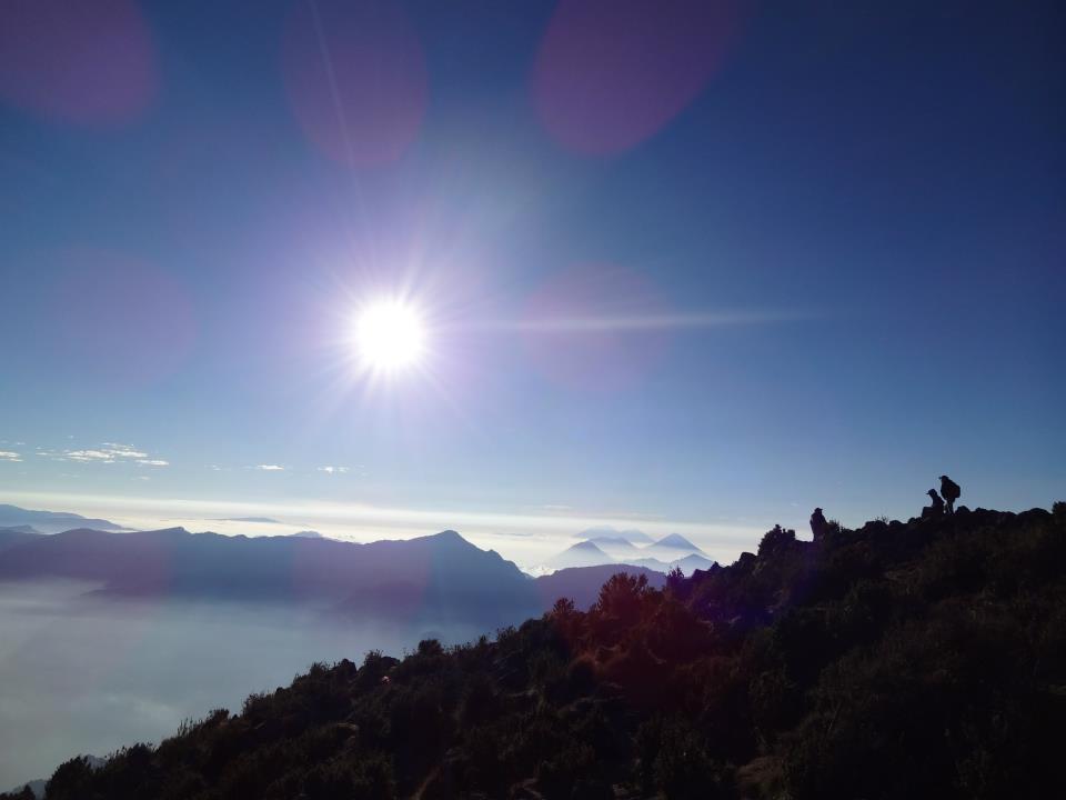 Vue depuis le sommet du Santa María